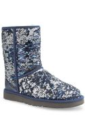 Ugg Classic Sequin Embellished Boots - Lyst