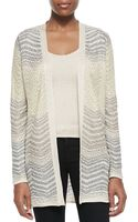 M Missoni Open Front Ripple Knit Cardigan - Lyst