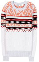 Proenza Schouler Intarsia Cotton Sweater - Lyst