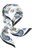 Kenzo Pure Silk Tiger and Paisley Print Square Scarf - Lyst