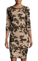 Chetta B Floral-design Lace Cocktail Dress - Lyst