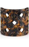 Tory Burch Perforated Resin Logo Cuff - Lyst
