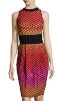 M Missoni Knit Round-neck Sleeveless Dress - Lyst