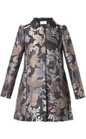 RED Valentino Floral and Owljacquard Coat - Lyst