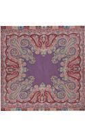 Etro Bombay Wool and Silk Shawl - Lyst