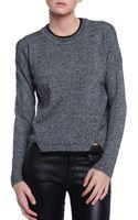 White + Warren Double Layered Sweater - Lyst