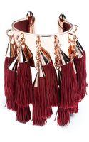 Eddie Borgo Large Silk Tassel Cuff - Lyst