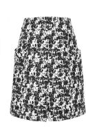 Oscar de la Renta Printed Woven Cotton-blend Pleated Skirt - Lyst