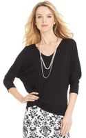 Karen Kane Dolman-sleeve Knotted Top - Lyst