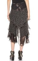 Jason Wu Silk Cascade Skirt Multi - Lyst