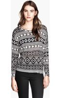 H&M Patterned Jumper - Lyst