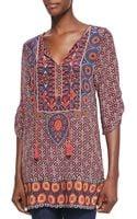 Tolani Camryn Silk Printed Long Tunic - Lyst