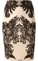 McQ by Alexander McQueen Lace Print Patterned Skirt - Lyst