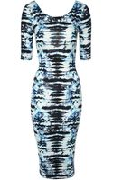 Jane Norman Animal Print Midi Dress - Lyst