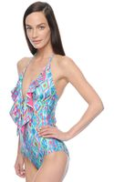 Ella Moss Savannah One Piece Swimsuit - Lyst