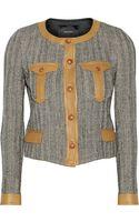 Isabel Marant Kacie Leathertrimmed Woolblend Tweed Jacket - Lyst