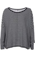 Alice + Olivia Long Sleeve Boxy Striped Sweater - Lyst