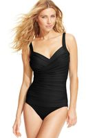 Miraclesuit Bella Ruched D-cup One-piece Swimsuit - Lyst