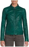 Dolce & Gabbana Cropped Leather Jacket - Lyst