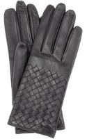 Bottega Veneta Intrecciato Leather Gloves - Lyst