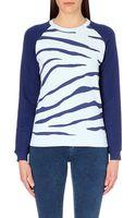 Zoe Karssen Zebra-print Jersey Sweatshirt - Lyst