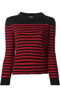 Saint Laurent Sailor Knit Sweater - Lyst