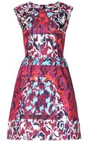 Peter Pilotto Tri Printed Silk Dress - Lyst