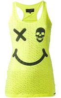 Philipp Plein Smile Embellished Tank Top - Lyst