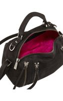 Botkier Legacy Top Handle Embossed Leather Shouldersatchel Bag Black - Lyst