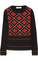 Prabal Gurung Jacquardknit Wool and Cashmereblend Sweater - Lyst