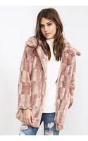 Forever 21 Classic Collar Faux Fur Coat - Lyst