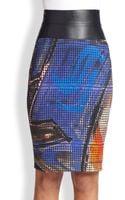 Akris Punto Graffitiprint Pencil Skirt - Lyst