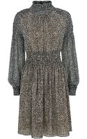 Michael Kors Bohemian Print Smocked Dress - Lyst