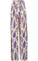 Matthew Williamson Blossom Snake Print Wideleg Trousers - Lyst