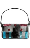 Fendi Embroidered Baguette Shoulder Bag - Lyst
