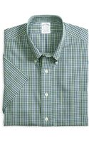 Brooks Brothers Noniron Slim Fit Check Shortsleeve Sport Shirt - Lyst