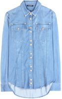 Balmain Denim Shirt - Lyst