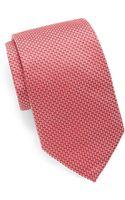 Armani Neat Oval Silk Tie - Lyst
