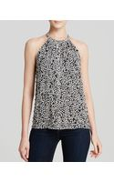 Diane Von Furstenberg Top Rose Heart Printed Silk - Lyst