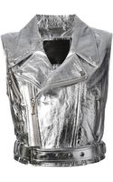Philipp Plein Cropped Waistcoat - Lyst