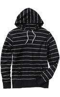 Old Navy Striped Hooded Pullover - Lyst