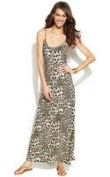 Inc International Concepts Spaghettistrap Animalprint Maxi Dress - Lyst