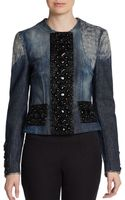 Dolce & Gabbana Embellished Distressed Denim Jacket - Lyst