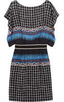 Alberta Ferretti Printed Silk and Crepe De Chine Dress - Lyst