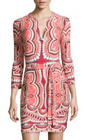 Ali Ro Printed Tie-waist Jersey Dress - Lyst