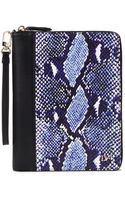 Diane Von Furstenberg Heritage Print Zip Around Leather Ipad Mini Case - Lyst