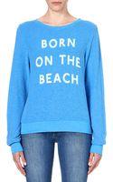 Wildfox Born On The Beach Jersey Sweatshirt - Lyst