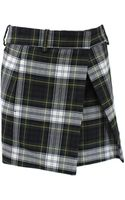 McQ by Alexander McQueen Tartan Pleat Mini Skirt - Lyst
