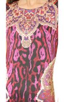 Just Cavalli Printed Dress Fuxia - Lyst