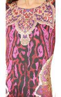 Just Cavalli Printed Dress Fuxia - Lyst